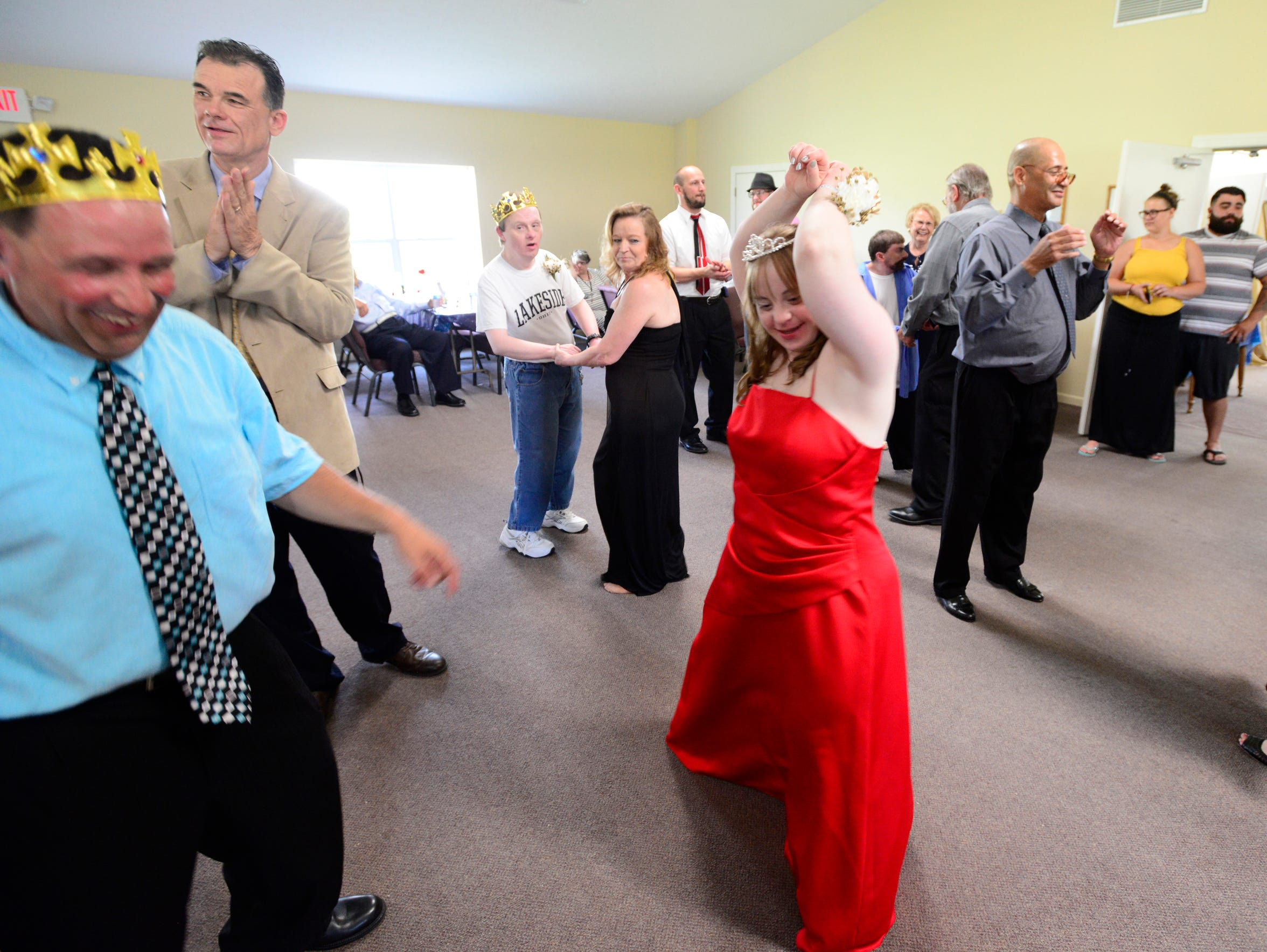 Elizabeth Young of Catawba dances at the special needs