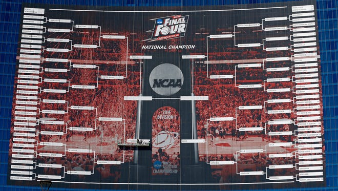 The 2015 NCAA tournament bracket (last year's).