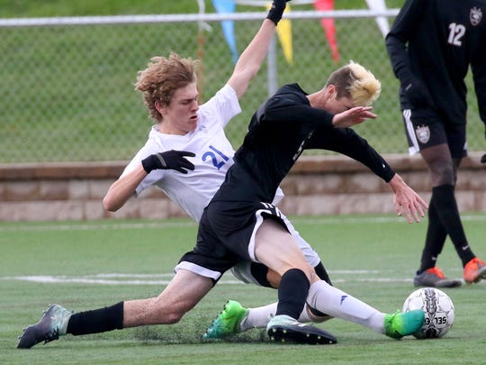 Erich Legut (21) scored 33 goals and made 11 assists this season and led Waukesha West to the sectional semifinal.