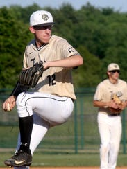 Central Magnet's James Touchton (12) pitches against