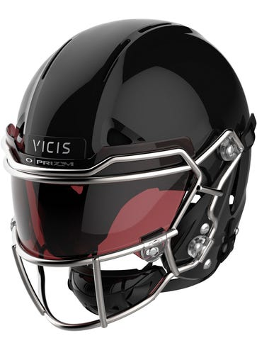This image provided by VICIS Inc. shows the NFL's top-ranked helmet for safety, the Zero1. The Seattle-based company has been awarded a development contract by the US Army to research ways to improve combat helmets in the Army and Marine Corps. VICIS will replace the liners in combat helmets to better protect soldiers from head injuries. (VICIS Inc. via AP)