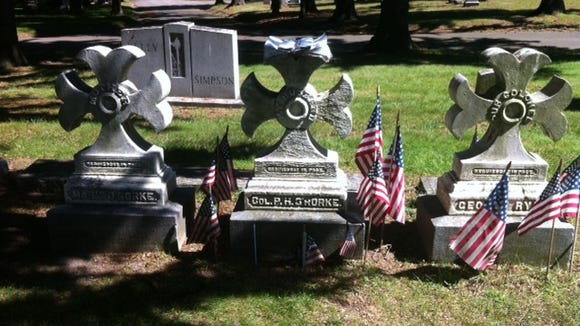 The grave of Col. Patrick O'Rorke.