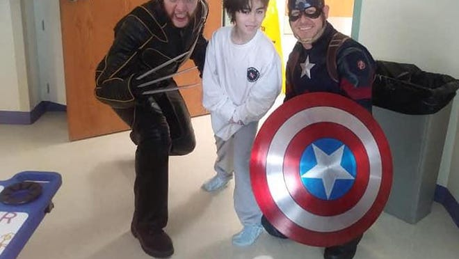 Wolverine and Captain America paid Ringo Tipton of Newton a visit during one of his hospitalizations. Tipton is one of only 500 people who have been diagnosed with GLUT1 since the genetic disorder was discovered in 1991.