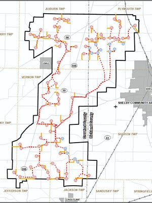 The Black Fork Wind Farm would consist of 91 wind turbines to be installed in Richland and Crawford counties.