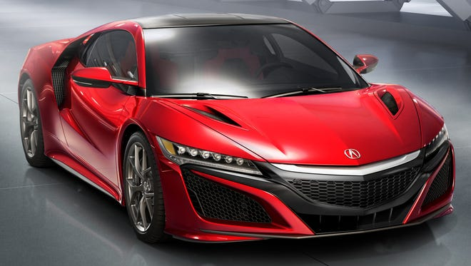 Honda's Acura shows its stunning new NSX.