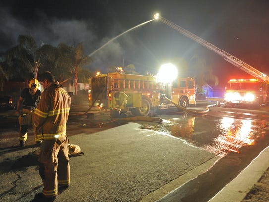 Firefighters were called to a single-story house fire