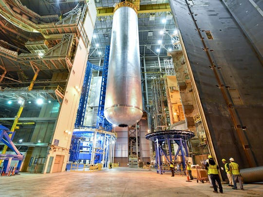 "Welding is complete on the largest piece of the core stage that will provide the fuel for the first flight of NASA's new rocket, the Space Launch System, with the Orion spacecraft in 2018. The core stage liquid hydrogen tank has completed welding on the Vertical Assembly Center at NASA's Michoud Assembly Facility in New Orleans. Standing more than 130 feet tall, the liquid hydrogen tank is the largest cryogenic fuel tank for a rocket in the world. The liquid hydrogen tank and liquid oxygen tank are part of the core stage -- the ""backbone"" of the SLS rocket that will stand at more than 200 feet tall. Together, the tanks will hold 733,000 gallons of propellant and feed the vehicle's four RS-25 engines to produce a total of 2 million pounds of thrust. This is the second major piece of core stage flight hardware to finish full welding on the Vertical Assembly Center. The core stage flight engine section completed welding in April. More than 1.7 miles of welds have been completed for core stage hardware at Michoud. Traveling to deep space requires a large rocket that can carry huge payloads, and SLS will have the payload capacity needed to carry crew and cargo for future exploration missions, including NASA's Journey to Mars."