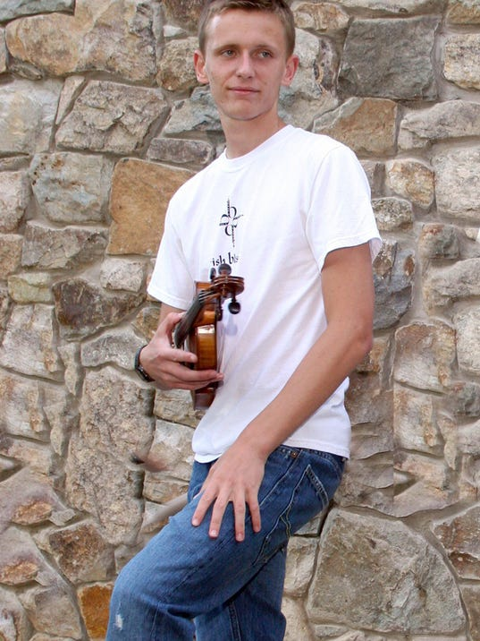 Joshua Srour, 19, not only plays the fiddle for Irish Blessing, but also dances with The Broesler School of Irish Dance, which will perform at noon Saturday at the Penn-Mar Irish Festival.
