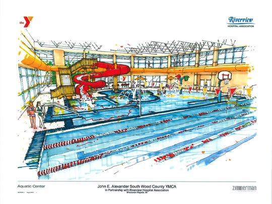 The new YMCA facility will feature an aquatics facility.