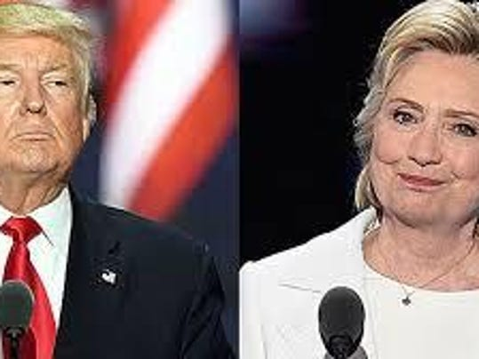 Trump Clinton getty images