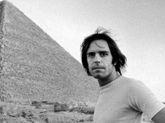 "Bob Weir in Egypt in 1978 for the Grateful Dead's landmark shows there as depicted in ""The Other One: The Long, Strange Trip of Bob Weir."" (Photo by Adrian Boot)"
