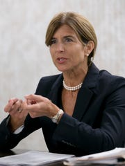 NJ Senator Jennifer Beck in edit board discussing plans