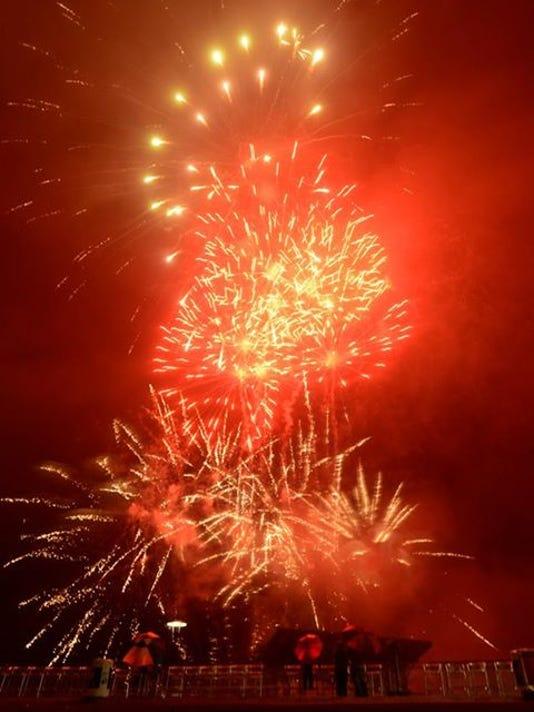 Blue Wahoos Stadium Fireworks