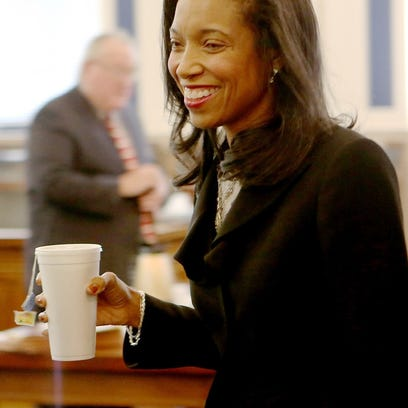 Judge Tracie Hunter at her criminal trial last fall.