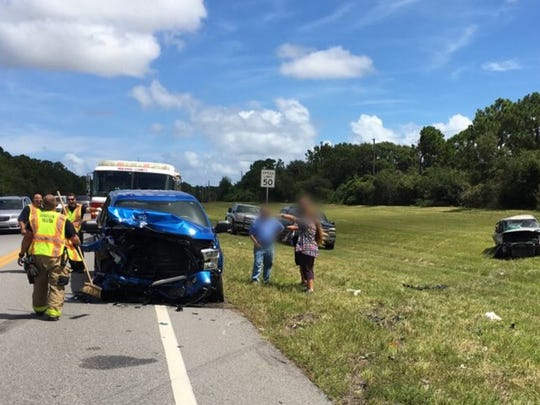 One person was airlifted Thursday morning from a two-car