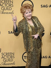 Debbie Reynolds at the Screen Actors Guild Awards held Jan. 25, 2014, at the Shrine Auditorium in Los Angeles. She was unable to attend the Governors Awards to accept her honorary Oscar in person.