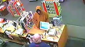 Richmond Police Department is looking for this suspect in Sunday night's CVS robbery. Call (765) 983-7247 with any information about the suspect.