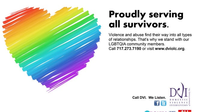 Flyer issued by Domestic Violence Intervention of Lebanon County during LGBT Pride Month.
