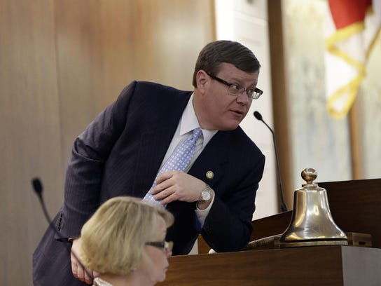House Speaker Tim Moore, R-Cleveland, addresses members of the House in this file photo.
