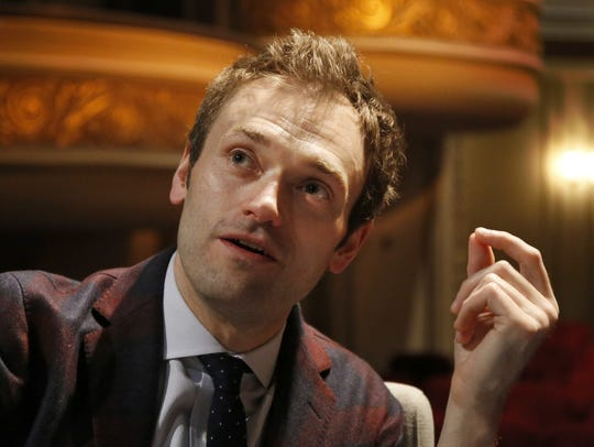 In this April 5, 2016, file photo, Chris Thile speaks