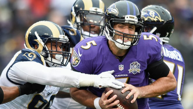 Ravens quarterback Joe Flacco has done just about everything this summer except take a hit.