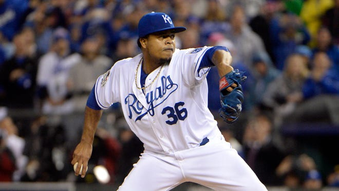 Edinson Volquez started Game 1 without knowing his father had passed away.