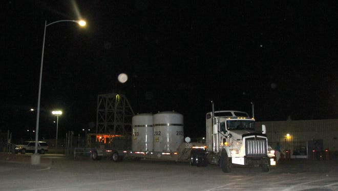 Once the shipment is inspected, it makes its way to the Waste Handling Building, where it will be unloaded.