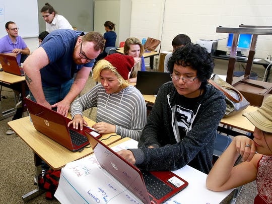 Charles Sandidge with Cultivating Coders leads an eight-week