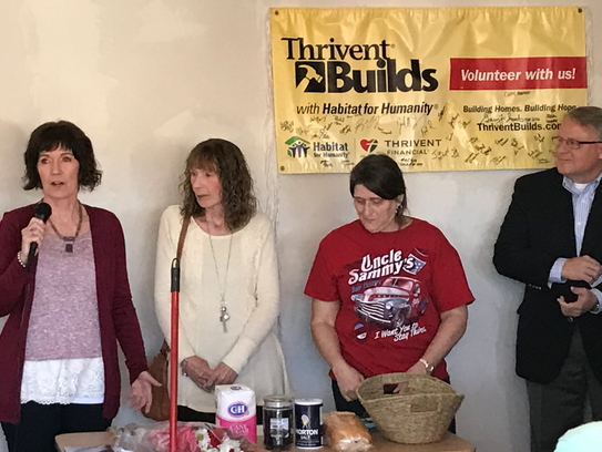 Eileen Engl (far left) and Kathy Rowe (second from