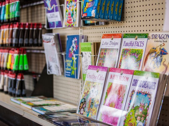 Color Country Art Supply in Cedar City carries adult coloring books and coloring supplies.