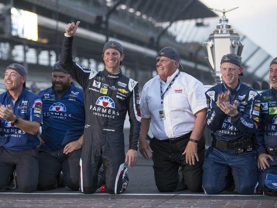 Kasey Kahne, winner of the Brickyard 400 at Indianapolis