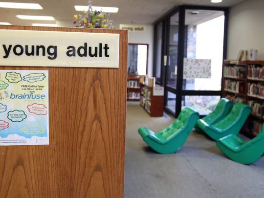 The young adult section at the Scarsdale Public Library.
