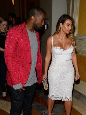 She gets paid to play: Kardashian celebrates her birthday on Oct. 26, 2013, in Las Vegas with West, at a gig at Tao nightclub.