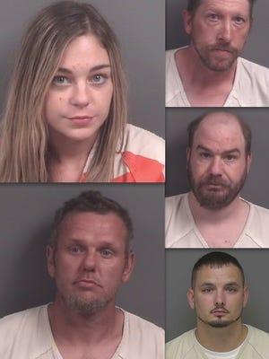 Clockwise: Taylor Sayre, Kevin Beebe, Jason Hutt, Justin Kimball and Johnny Brewer.