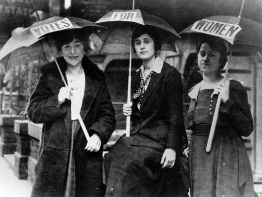 Womens Suffrage Movement. No date on photoCredit Susan