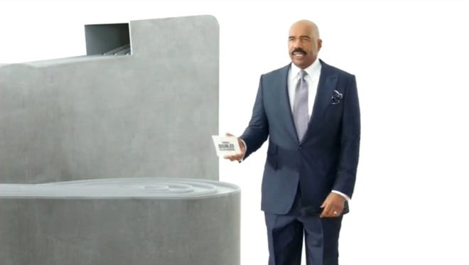 Steve Harvey's a good sport in the latest T-Mobile ad.