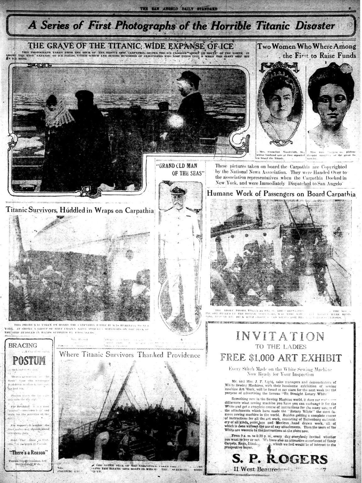 Titanic photo page April 1912.