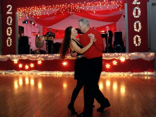 A scene from Le Les Danseurs Dance Club's New Year's Eve 2000 Party at the Marshall St. Armory in Lansing.