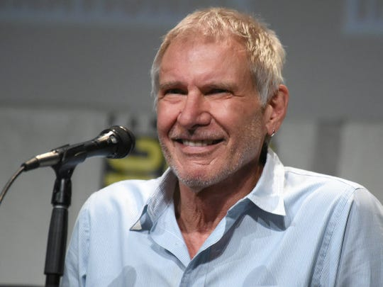 Harrison Ford at Comic-Con to promote 'Star Wars: The