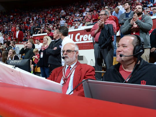 Chuck Crabb hard at work during IU's game vs. Austin
