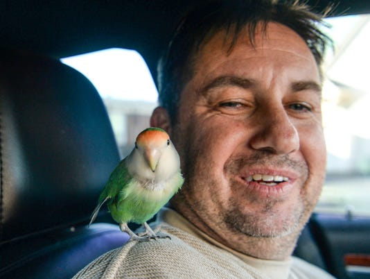 Tony the bird reunited with owner