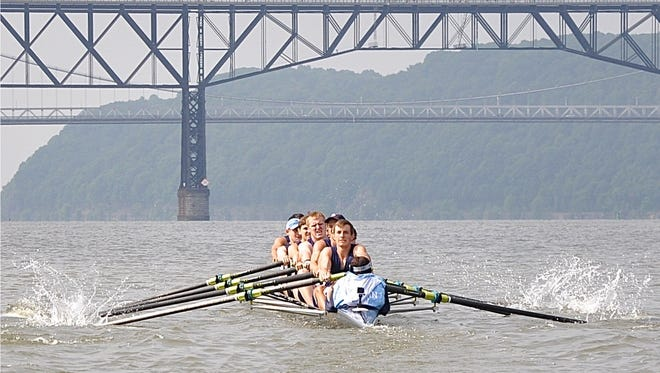 Suffern rows to a medal in the 8-boat category after the team had to switch boats after a crash.