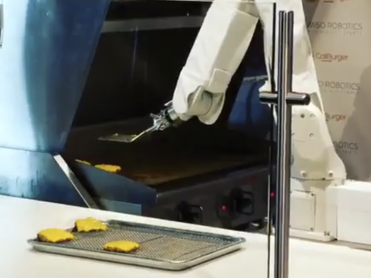 As USA Today reported, the burger chain Caliburger recently unveiled Flippy, a robot that has one sole function — flip hamburgers.
