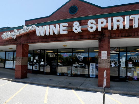 Murfreesboro Wine & Spirits will be one of the stores open this Sunday from 10 am to 10 pm. Photo taken on Friday, April 20, 2018.