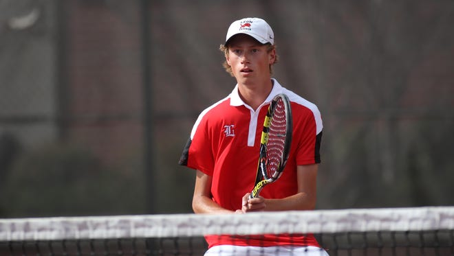 Leon senior Will Stone, last year's All-Big Bend Player of the Year, won at No. 2 singles on Wednesday in the state tournament, clinching a 4-1 win for the Lions over Sea Breeze in the state quarterfinals.