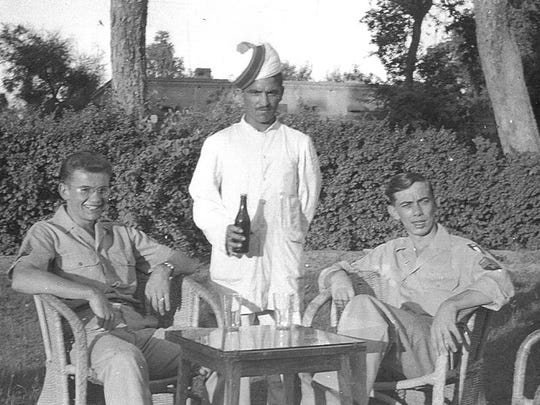 Robert Rigler, of New Hampton, and his comrade, Orville Larson, of Ossian, were stationed in Calcutta supplying the Chinese in their fight against the Japanese and in anticipation of America opening a third front in the war. On V-J Day, they were in Peshawar, Pakistan, and discovered that a hotel there had Canadian Club whiskey at the reasonable price of $5 per bottle, which meant a pleasant celebration of the war's end.