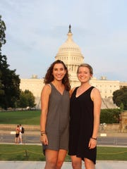 Paige Shortsleeves and Meg Buckley meet for the first time in Washington DC last fall at the start of the program.