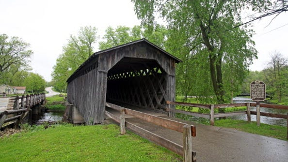 The last covered bridge in Wisconsin built in the 19th