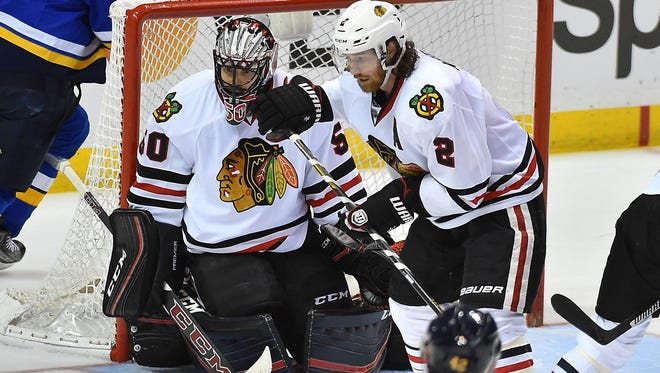 The Chicago Blackhawks need to give Duncan Keith (right) more help on the blue line.