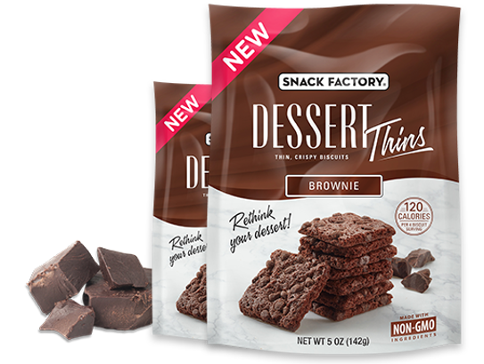 Snack Factory's new Dessert Thins are perfect for curbing